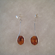 Boucles d'oreilles ovale tige longue 